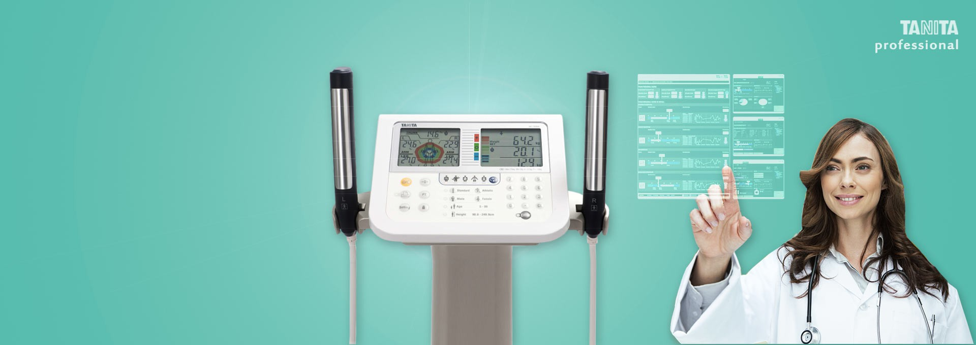 MC-780 MA Multi Frequency Segmental Body Composition Analyzer for medic and hospital